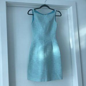 Elie Tahari Holly Dress Blue Tweed. Size 0